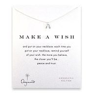 make a wish wishbone necklace, sterling silver