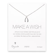 make a wish large wishbone necklace, sterling silver