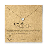 pearls of wisdom gold dipped reminder necklace