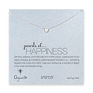 pearls of happiness white pearl necklace, sterling silver