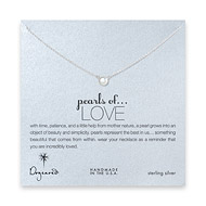 pearls of love white pearl necklace, sterling silver