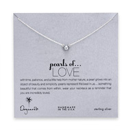 pearls of love gray pearl necklace, sterling silver
