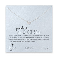 pearls of success white pearl necklace, sterling silver