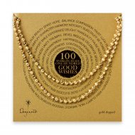 100 good wishes sparkle necklace, gold dipped