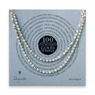 100 good wishes sparkle necklace, silver dipped