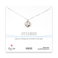 life's a beach keshi pearl necklace, sterling silver - 20 inches