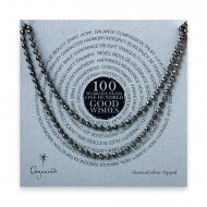 100 good wishes sparkle necklace, charcoal silver dipped