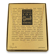 100 good wishes beaded necklace, gold dipped