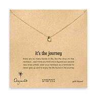 it's the journey necklace, gold dipped