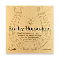 lucky horseshoe necklace, gold dipped