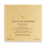 circle necklace, gold dipped - 18 inch