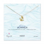 forever summer classic anchor necklace, gold dipped
