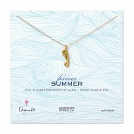 forever summer enchanted seahorse necklace, gold dipped