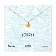 forever summer lucky sand dollar necklace, gold dipped