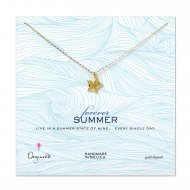 forever summer sea star necklace, gold dipped