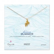 forever summer octopus necklace, gold dipped