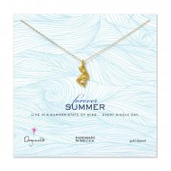 forever summer pretty mermaid necklace, gold dipped