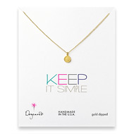keep it simple gold dipped circle necklace