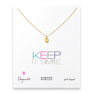 keep it simple gold dipped lotus petal necklace