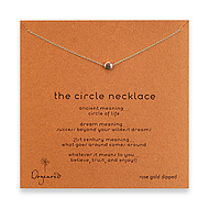 circle necklace, rose gold