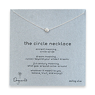 circle necklace, sterling silver