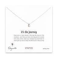 it's the journey necklace, sterling silver