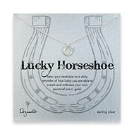 lucky horseshoe sterling silver necklace