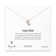 sterling silver carpe diem necklace