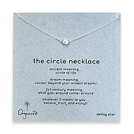 circle necklace, sterling silver - 18 inch