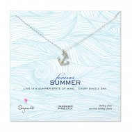 forever summer classic anchor necklace, sterling silver