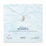 forever summer conch shell necklace, sterling silver