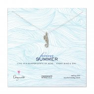 forever summer enchanted seahorse necklace, sterling silver