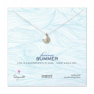 forever summer luck sand dollar necklace, sterling silver