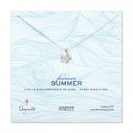forever summer sea star necklace, sterling silver