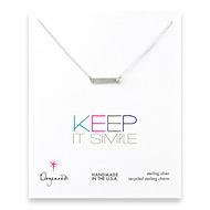 keep it simple sterling silver bar necklace