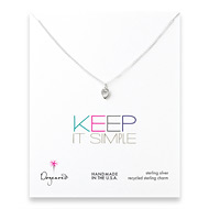 keep it simple sterling silver lotus petal necklace