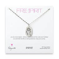 free spirit sterling silver dream catcher necklace - 32 inches