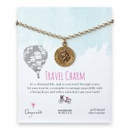 travel charm bracelet, gold dipped