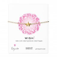 wishbone charm chain bracelet, gold dipped