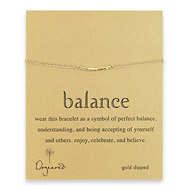balance bar bracelet, gold dipped