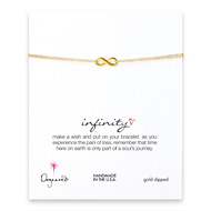 small infinity bracelet, gold dipped