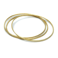 daily wear gold dipped textured bangle bracelets set of 3