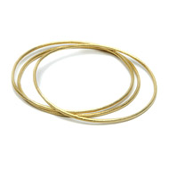 textured bangle bracelets set of 3, gold dipped