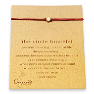 circle bracelet gold dipped on red irish linen