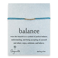 balance bar bracelet sterling silver on teal irish linen