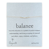 balance bar bracelet, sterling silver