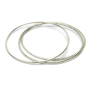 daily wear sterling silver textured bangle bracelet set of 3