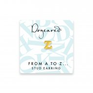 open z earring, gold dipped