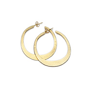 daily wear gold dipped hoop earrings