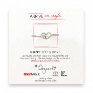 arrive in style heart ring, sterling silver, size 5
